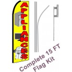 Appliances Yellow Extra Wide Swooper Flag Bundle