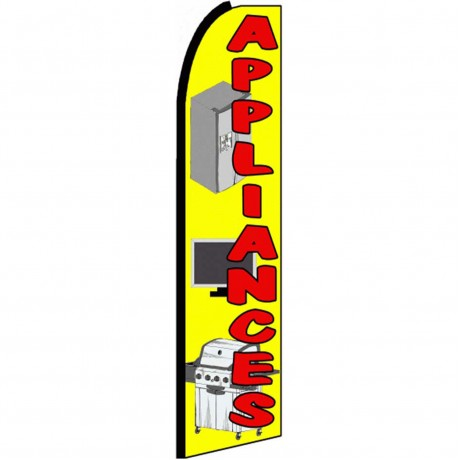 Appliances Yellow Extra Wide Swooper Flag