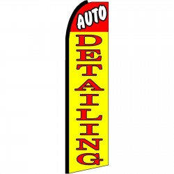 Auto Detailing Yellow Extra Wide Swooper Flag