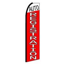 Auto Registration Extra Wide Swooper Flag