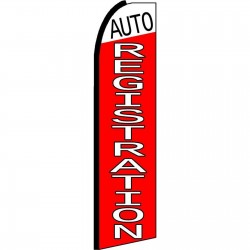 Auto Registration Extra Wide Swooper Flag