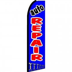 Auto Repair Blue Extra Wide Swooper Flag