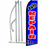 Auto Repair Blue Extra Wide Swooper Flag Bundle