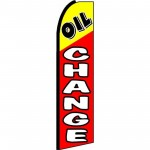 Oil Change Red Yellow Extra Wide Swooper Flag
