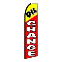 Oil Change Red Yellow Black Extra Wide Swooper Flag
