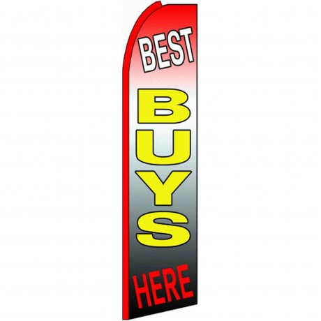 Best Buys Here Extra Wide Swooper Flag