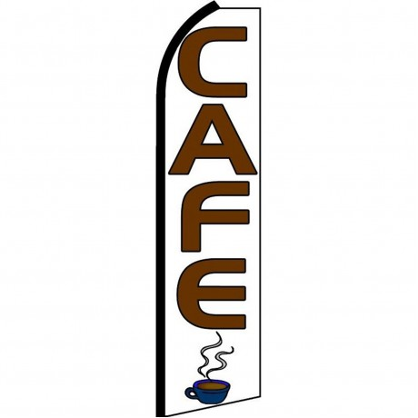 Cafe White Extra Wide Swooper Flag