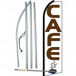 Cafe White Extra Wide Swooper Flag Bundle