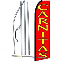 Carnitas (Fried Pork) Extra Wide Swooper Flag Bundle