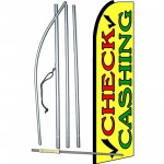 Check Cashing Extra Wide Swooper Flag Bundle