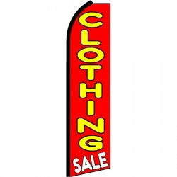 Clothing Sale Extra Wide Swooper Flag
