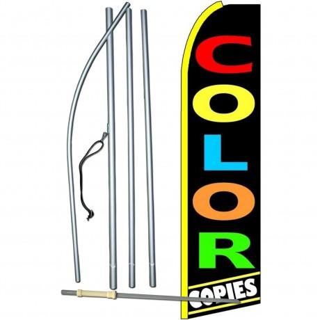 Color Copies Extra Wide Swooper Flag Bundle