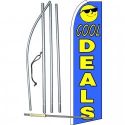 Cool Deals Extra Wide Swooper Flag Bundle