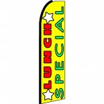 Lunch Special Yellow Extra Wide Swooper Flag