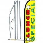 Lunch Special Yellow Extra Wide Swooper Flag Bundle