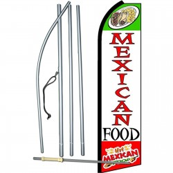 Mexican Food Extra Wide Swooper Flag Bundle