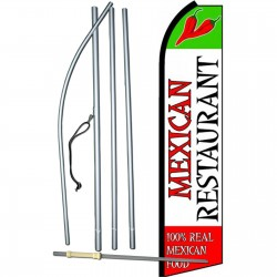 Mexican Restaurant Extra Wide Swooper Flag Bundle