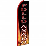 Pollo Asado Extra Wide Swooper Flag