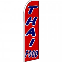 Thai Food Extra Wide Swooper Flag