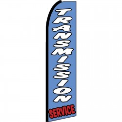 Transmission Service Blue Extra Wide Swooper Flag