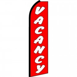 Vacancy Extra Wide Swooper Flag