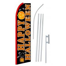 Happy Halloween Extra Wide Swooper Flag Bundle