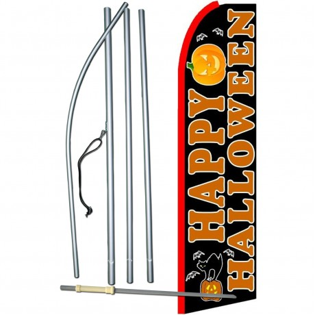 Happy Halloween Extra Wide Swooper Flag Bundle