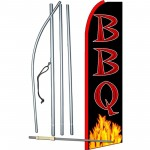 BBQ Black Extra Wide Swooper Flag Bundle