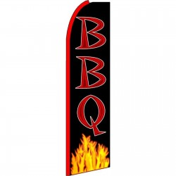 BBQ Black Extra Wide Swooper Flag