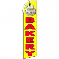 Bakery Yellow Extra Wide Swooper Flag