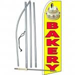 Bakery Yellow Extra Wide Swooper Flag Bundle