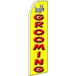 Pet Grooming Yellow Extra Wide Swooper Flag