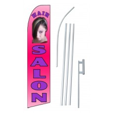 Hair Salon Pink Extra Wide Swooper Flag Bundle