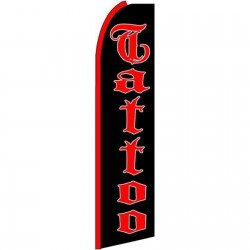 Tattoo Black Extra Wide Swooper Flag