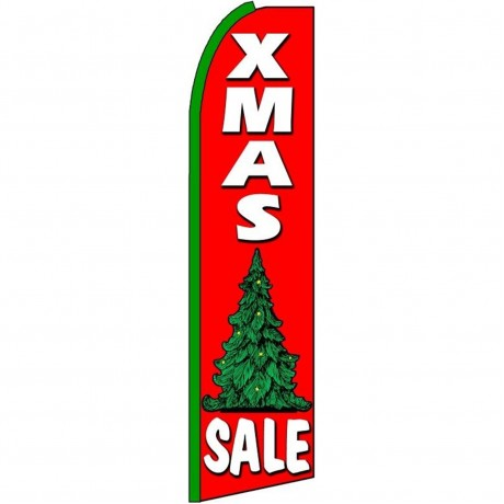 XMas Sale Extra Wide Swooper Flag