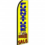 Furniture Sale Yellow Extra Wide Swooper Flag