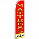 Mattress Sale Yellow Red Extra Wide Swooper Flag