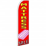 Mattress Sale Red Pink Extra Wide Swooper Flag