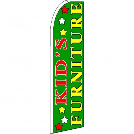 Kid's Furniture Green Extra Wide Swooper Flag
