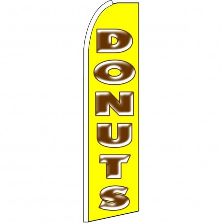 Donuts Yellow Extra Wide Swooper Flag