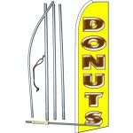 Donuts Yellow Extra Wide Swooper Flag Bundle