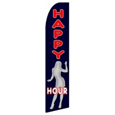 Happy Hour Extra Wide Swooper Flag