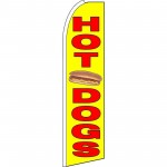 Hot Dogs Yellow Extra Wide Swooper Flag