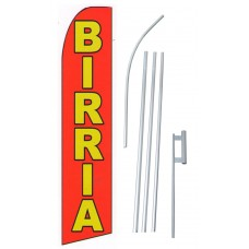 Birria (Goat/Lamb) Extra Wide Swooper Flag Bundle