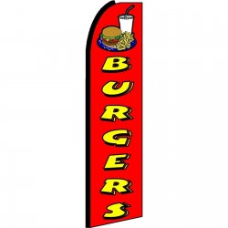 Burgers Red Extra Wide Swooper Flag