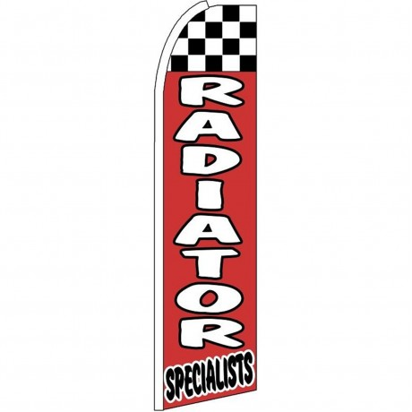 Radiator Specialists Red Checkered Extra Wide Swooper Flag