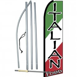 Italian Food Extra Wide Swooper Flag Bundle