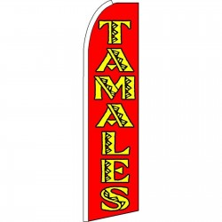 Tamales Extra Wide Swooper Flag