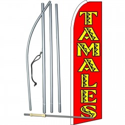 Tamales Extra Wide Swooper Flag Bundle