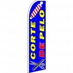 Corte De Pelo Blue Extra Wide Swooper Flag